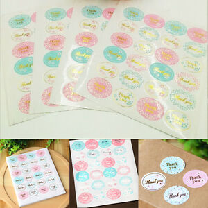 120Pcs-Oval-Gold-Silver-034-Thank-You-034-Adhesive-Seal-Sticker-Envelope-Label
