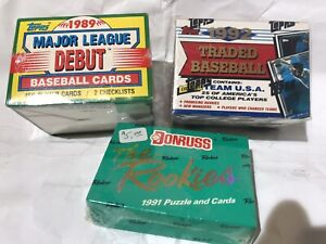 '89 TOPPS MLB Debut '92 Traded '91 Donruss ROOKIES Factory Sets LOT NOS #426D