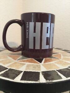 Hershey-039-s-Chocolate-Ceramic-Coffee-Cocoa-Mug-Cup-Brown-12-oz-Used