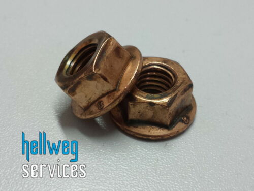 Flange Nut M8 X 1,25 SW13 din 6927 Nut with Waistband Copper Plated