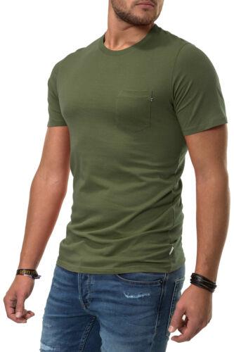 Jack /& Jones Herren T-Shirt Basic Shirt Kurzarmshirt Short Sleeve Streetwear