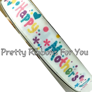 Happy Mothers Day 5//8 wide grosgrain ribbon 5 yards listing