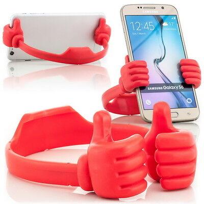 """Amichevole Supporto Da Tavolo Mensola Per Supporto Cellulare Fino A 6"""" Supporto Smartphone Dock Stand Rosso-"""
