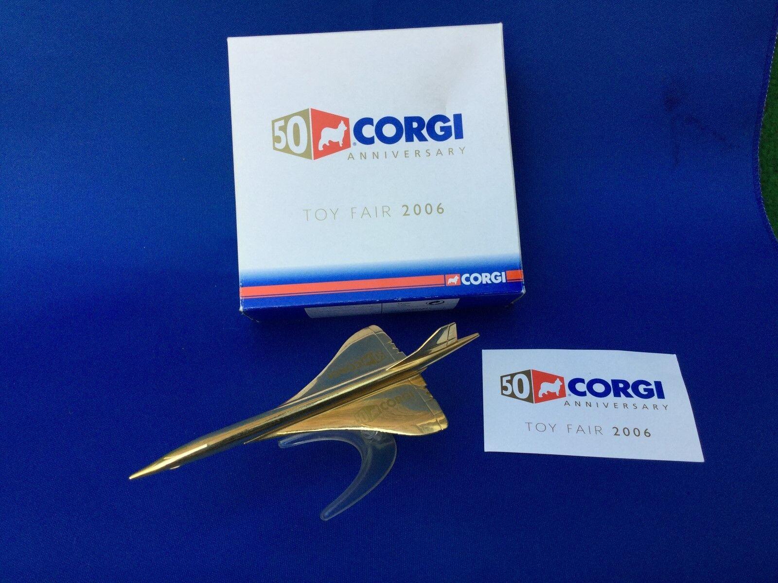 Corgi concorde Gold toy fair 2006 stillgelegt
