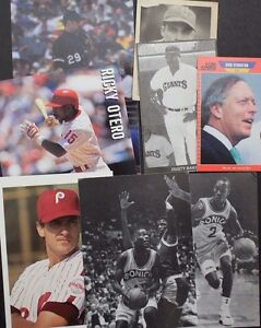 Sports-Memorabilia-NBA-NFL-MLB-Dusty-Baker-Dick-Stockton-Misc-Lot-12-Items-17E