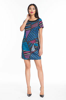 NWT! TRACY REESE Franchesca Dress Gorgeous Geometric Dress Great Winter Colors