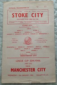 LEAGUE CUP SEMI FINAL 1964 Stoke v Manchester City - <span itemprop='availableAtOrFrom'>Walthamstow, London, United Kingdom</span> - LEAGUE CUP SEMI FINAL 1964 Stoke v Manchester City - Walthamstow, London, United Kingdom