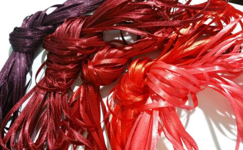 50 m étroit ruban-Riche Rouge Craft Ribbon