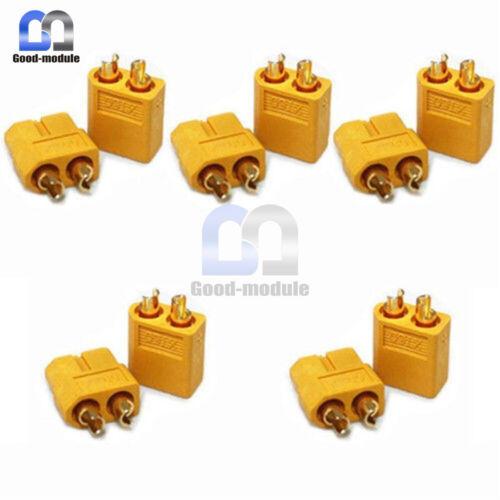 10Pairs 20PCS XT60 Bullet Connectors Plugs Female Male For RC Battery motor