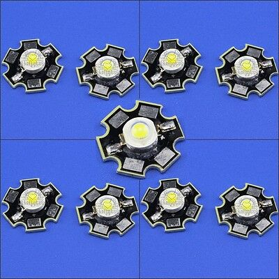 10-100PCS 1W 3W High Power Led Lamp Chip with 20mm Aluminum Base Plate Heat Sink