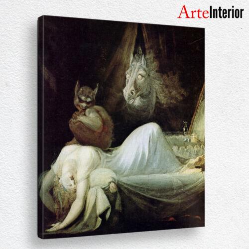 The Nightmare L/'incubo QUADRO Johann Heinrich Füssli Stampa su tela Canvas