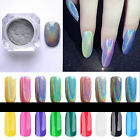 Neu Holographic Nagel Pigment Puder Pulver Glitter Mirror Powder Nail Art Chrome
