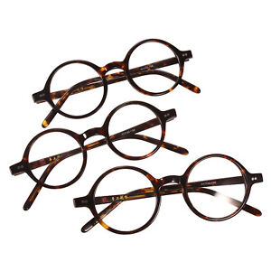 16a31d7c3a8f Image is loading 40mm-44mm-HANDMADE-Vintage-Round-Glasses-Tortoise-Optical-
