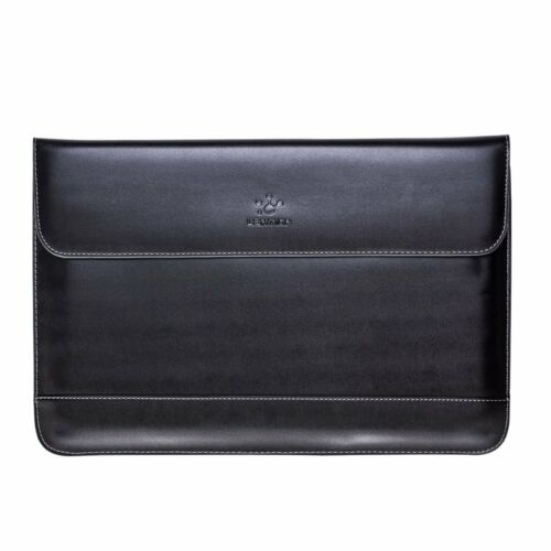 Premium Split Leather Sleeve Laptop Case Bag Pouch for New MacBook Pro 15 Retina