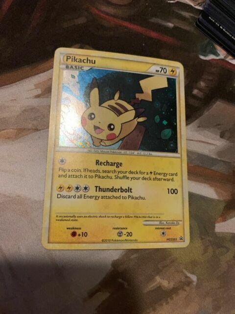 POKEMON • Pikachu HOLO • BLACK STAR PROMO HGSS03