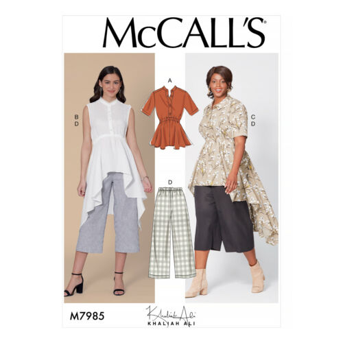 McCall/'s 7985 Sewing Pattern to MAKE Misses/'//Women/'s Top Tunic Trousers