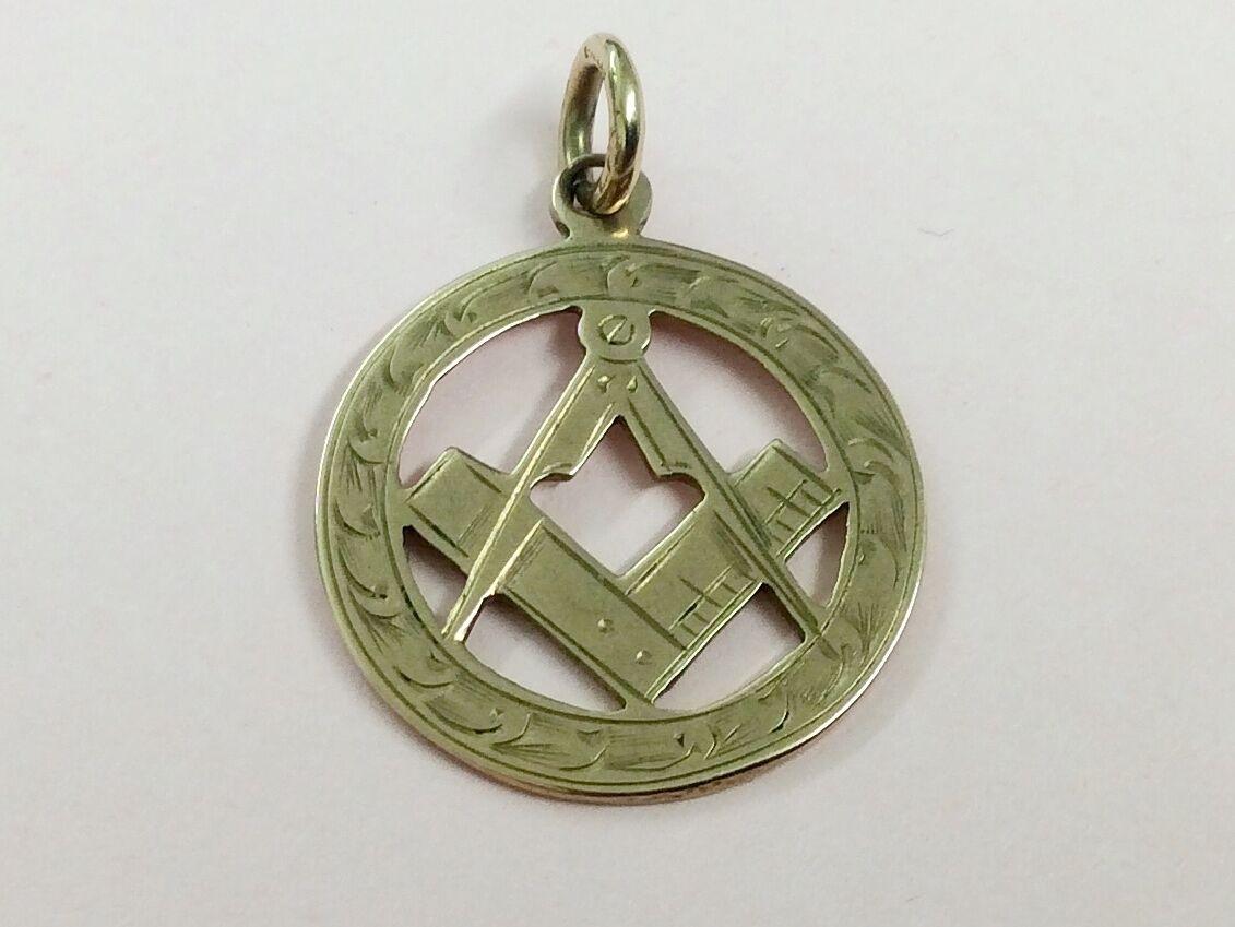 Antico Antico Antico 9 Carati oro rosa massonica FOB Medallion 1917 8ff693