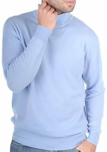 Balldiri 100/% Cashmere Kaschmir Herren Rollkragen Pullover 4-fädig himmelblau L