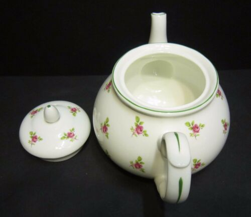 llanta Verde Dot Rose Inglés Porcelana Fina 4 Taza Tetera por Milton China