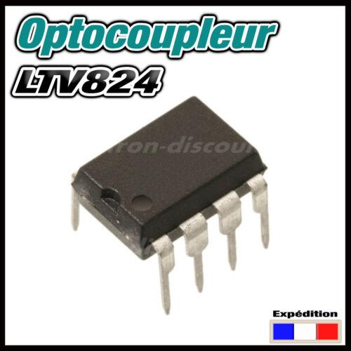 5 1550# Optocoupleur double  LTV824 AC DC  en paquet de 2 10pcs DIP8