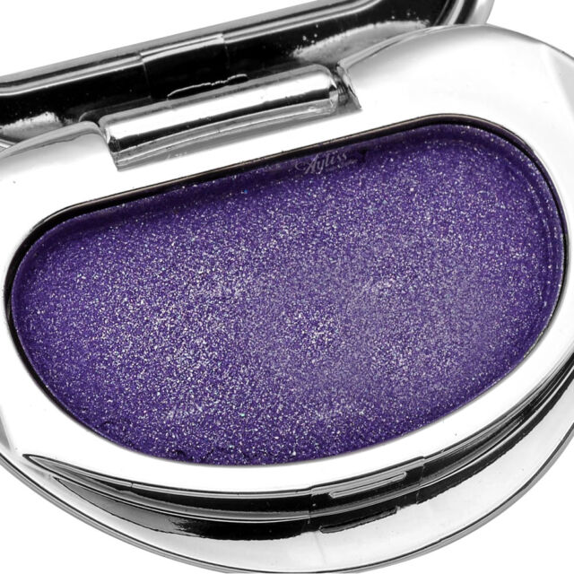 Single Colour Makeup Eye Shadow Pressed Palette Heart Shiny Cosmetic Purple