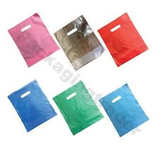Plastic Punch Out Carrier Patch Handle Bag Medium Gift Fashion Party Cloth Shop