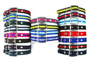Soft-amp-Comfy-Dog-Collars-Strong-Durable-Air-Webbing-In-Various-Colours-amp-Sizes