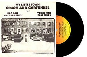 SIMON-amp-GARFUNKEL-MY-LITTLE-TOWN-RARE-EP-7-034-45-VINYL-RECORD-PIC-SLV-1975