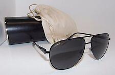 Authentic Bvlgari 5037 128/87 Aviator Matte Black Grey Men's Sunglasses UA6-2/28