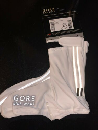 reflective Oxygen road overshoes white color lightweight GORE BIKE WEAR
