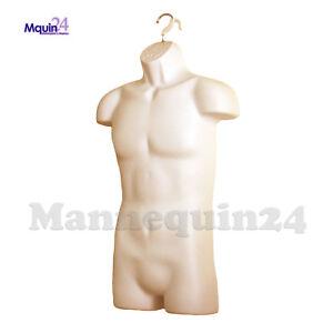 MALE MANNEQUIN TORSO - FLESH HANGING DRESS FORM