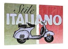 Italian Style Vespa - 30x20 Inch Canvas - Lambretta Framed Picture Print