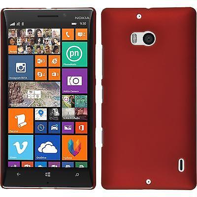 Hardcase für Nokia Lumia 930 Hülle rot gummiert + 2 Schutzfolien
