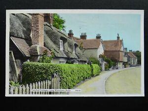 Berkshire-LONG-WITTENHAM-Thatched-Cottages-c1950s-RP-Postcard