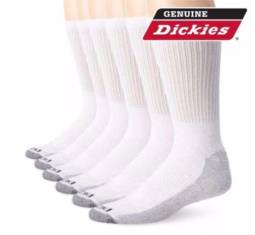 5 Pair Dickies Crew Work Socks Dri-Tech Men/'s 6-12 Extra Thick Reinforced White