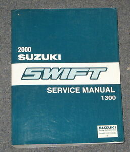 2000 suzuki swift 1300 service manual ebay rh ebay co uk 2000 Suzuki Swift Sedan Suzuki Swift 2006