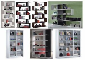 Image Is Loading Gloss Black White Brown Room Divider Bookcase Lounge