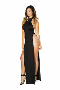 0a6c296b0 Image is loading Roma-Costume-Maxi-Length-Halter-Neck-Dress-with-