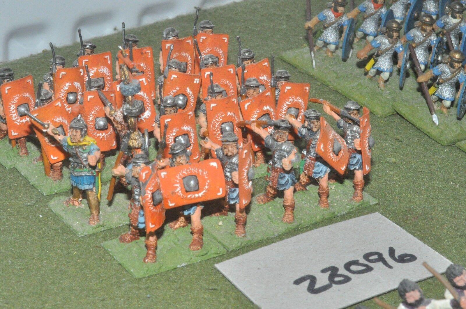 25mm roman era   roman - legionaries 24 figures - inf (28096)
