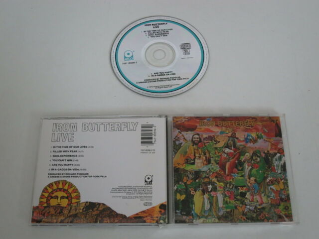 IRON BUTTERFLY/LIVE(ATCO 7567-90396-2) CD ALBUM
