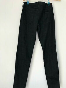 Mossimo-BLACK-STRETCH-SKINNY-JEANS-Size-4-27-Waist-Pants-Ladies-Mid-Rise-Curvy