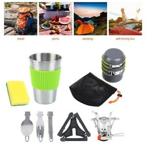 Camping Cookware Mess Kit Backpacking Gear & Hiking Hiking Picnic Cookware Set