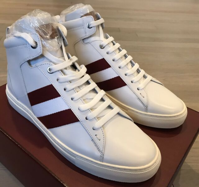 Bally Hedern White Leather High Tops