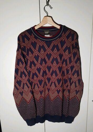 Vintage 1980s Neiman Marcus 100% Merino Wool Red B