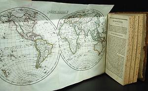 à Condition De Abrégé De Géographie Moderne Mappe-monde 8 Cartes Pinkerton J 1805 Maps