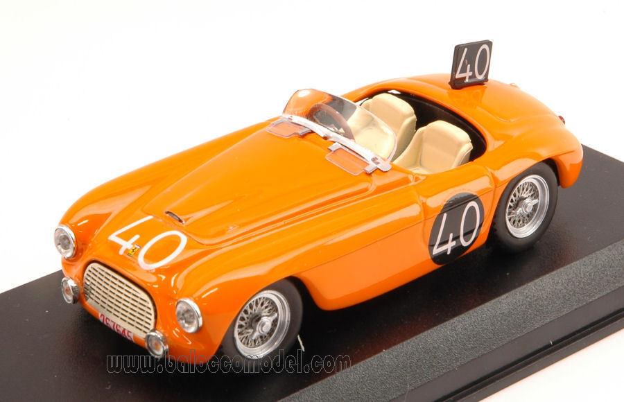 Ferrari 166 MM Spider Spider Spider #40 8th 24h Spa 1949 Roosdorp / De Ridder 1:43 Model   Doux Et Léger  3d38fe