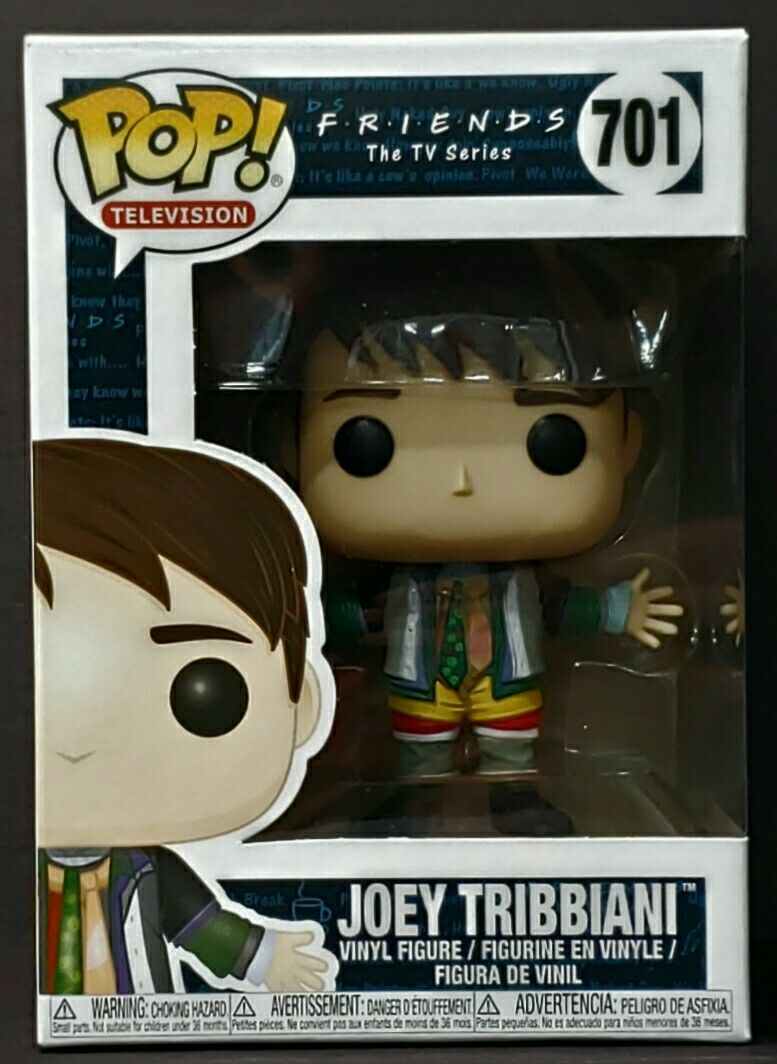 Funko Pop + Protector! Friends #701 Joey Tribbiani in Chandler's Clothes MINT