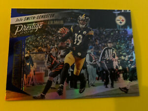 JUJU-SMITH-SCHUSTER-2019-Panini-Prestige-Xtra-Points-Insert-Parallel-Steelers
