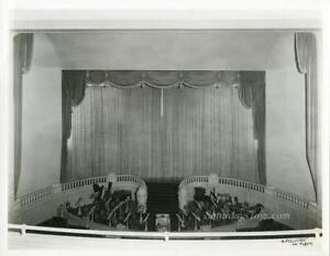 California Theatre Los Angeles Movie Palace PHOTO 1918 Stage Curtain Balustrade