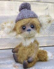 Fox mohair fox handmade fox stuffed animal artist teddy fox woodland animal fox